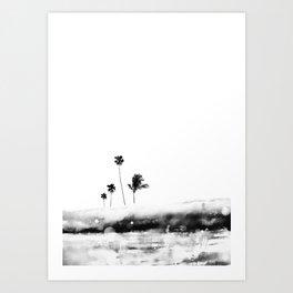 Palm 04 (Black) Art Print