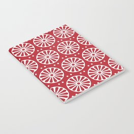 Red Rosette Notebook