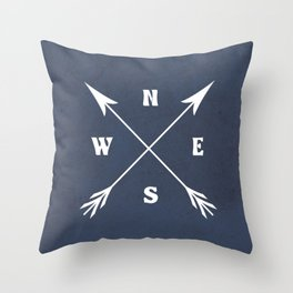 Compass arrows Throw Pillow