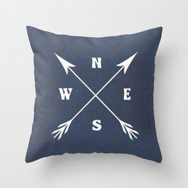 Compass arrows Throw Pillow