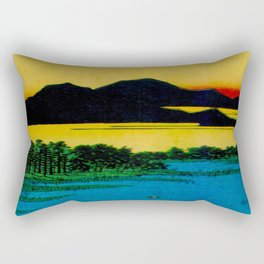 Sunset Contemplative Landscape Rectangular Pillow