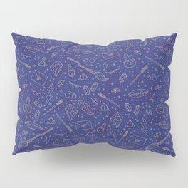 Yer a Wizard - Blue + Bronze Pillow Sham