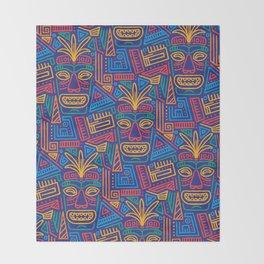 Tiki pattern Throw Blanket
