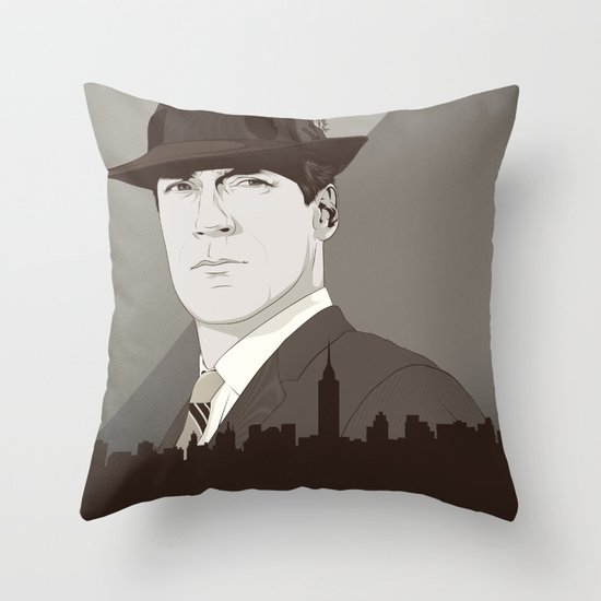The Mad Throw Pillow
