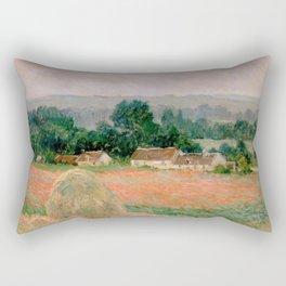 Haystack at Giverny Rectangular Pillow
