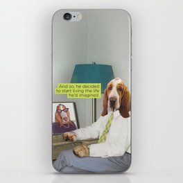 Basset Hound Mid Century Dog iPhone Skin