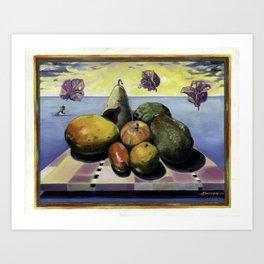 Fruit Dreaming of Bougainvillea  Art Print