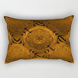 Power Pattern 04 orange Rectangular Pillow