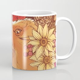 Autumn Fox Bloom Coffee Mug