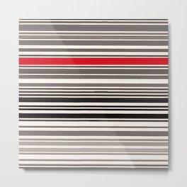 red line Metal Print