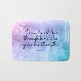 Philippians 4:13, Inspiring Bible Verse Bath Mat