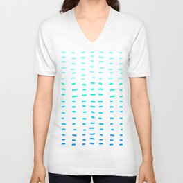 Fiesta at Festival - White & Turquoise Unisex V-Neck