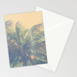 coconut palm trees  Stationery Cards