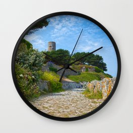 Once Upon a Guernsey Path Wall Clock