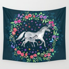 Mama and Baby Unicorn Wall Tapestry