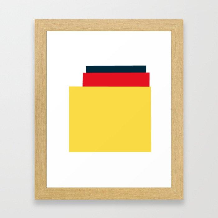 Mid Century Modern Vintage 25 Framed Art Print