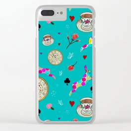 Alice Was Here Clear iPhone Case