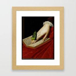 Gentle Reader Cropped Art Framed Art Print