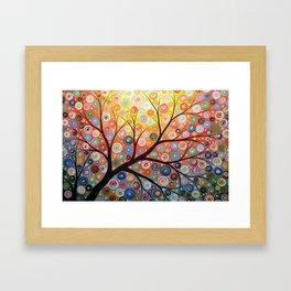 Abstract Art Landscape Original Painting ... Reaching For the Light Framed Art Print
