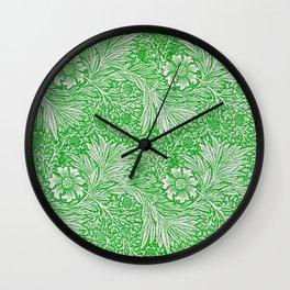 William Morris: Green Botanical Wall Clock
