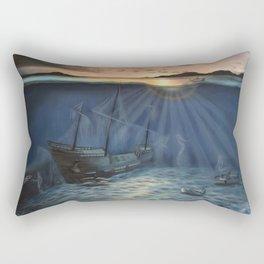 Shipwrecked Rectangular Pillow