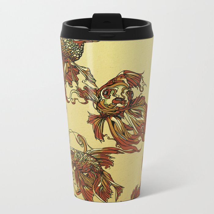 Tangled Veiltail Metal Travel Mug