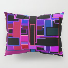 Midnight in the Metropolis Abstract of Rectangles Pillow Sham