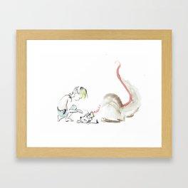 Chiendant et mauvaise graine Framed Art Print