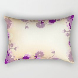 Background Purple Floral Rectangular Pillow
