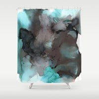 pool Shower Curtains featuring Pool by Amie Amyotte