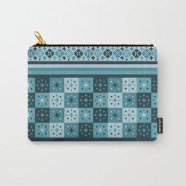 Bohemian Blue Tiles Pachwork Carry-All Pouch