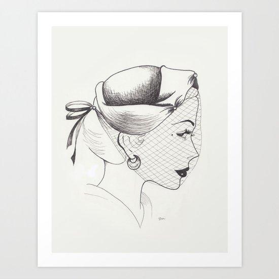 Almost Vintage Hat Illustration Art Print