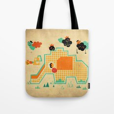 Elephant Playground Tote Bag