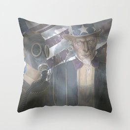 Americn Graphic Throw Pillow