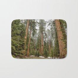 Sequoias in the Fog Bath Mat