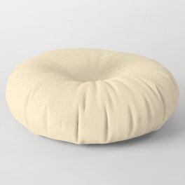 Neutral Bright Beige - Tan - Khaki Solid Color Parable to Pantone Cornhusk 12-0714 Floor Pillow