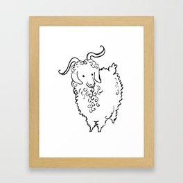 Angora Goat Framed Art Print