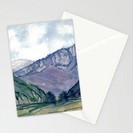 Violet Peaks Stationery Cards