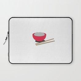 Asian rice with chopsticks Laptop Sleeve