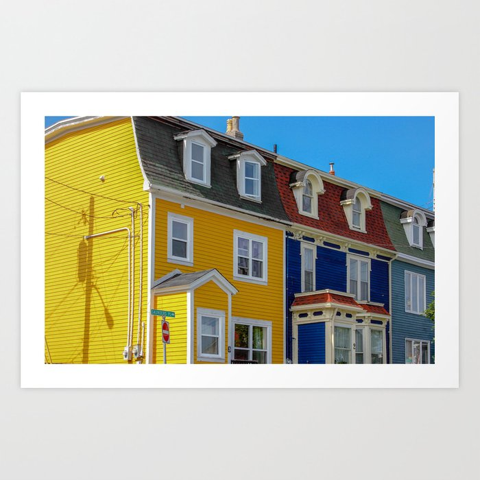 Jelly Bean Row >> Jellybean Row Art Print By Snappinimages