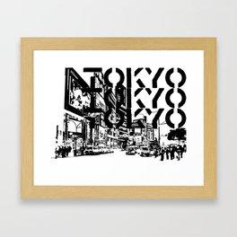 Tokyo Japan Black White Framed Art Print