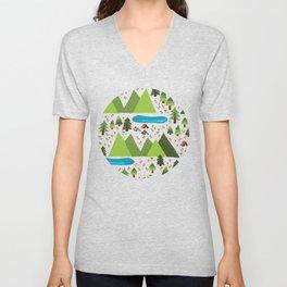 Summer Nature Camping Unisex V-Neck