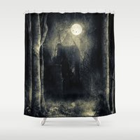 thrones Shower Curtains featuring Chapter VI by Viviana Gonzalez