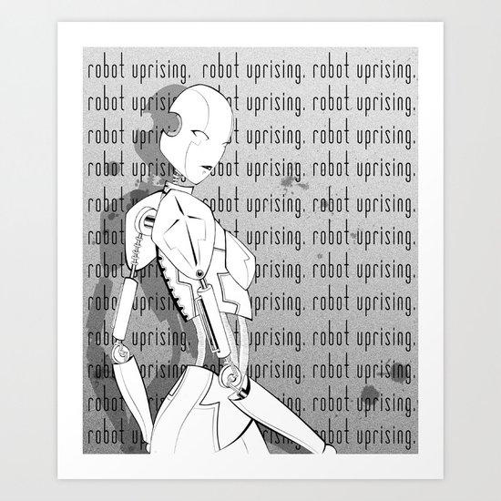 Robot Uprising Art Print