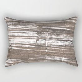 Umber abstract watercolor background Rectangular Pillow