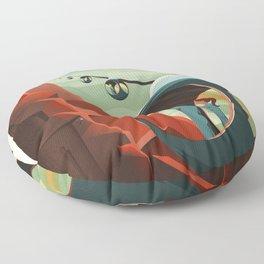 Travel Poster Olympus Mons (2015) Adventure Awaits Explore Mars Ultimate Vacation Destinations Floor Pillow