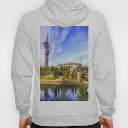 West Ham Olympic Stadium And The Arcelormittal Orbit Art Hoody