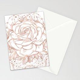 Mandala Lunar Rose Gold Stationery Cards