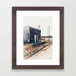 Abandoned building in the City of Benjamin in Texas Framed Art Print