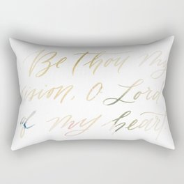 Be Thou My Vision On White Rectangular Pillow